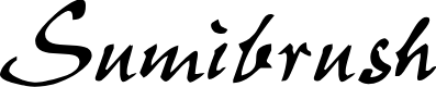 Preview image for Sumibrush Font