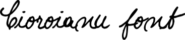 Preview image for Cioroianu font