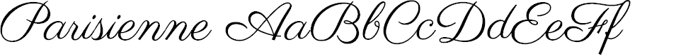 Preview image for Parisienne Font
