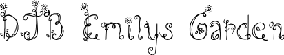 Preview image for DJB Emilys Garden Font