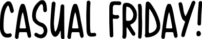 Preview image for Casual Friday Font
