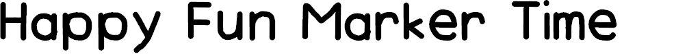 Preview image for Happy Fun Marker Time Font