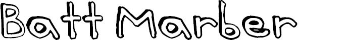 Preview image for Batt Marber Font