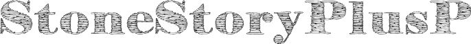 StoneStoryPlusP font