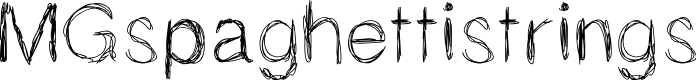 Preview image for MGspaghettistrings Font