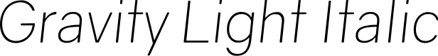 Preview image for Gravity Light Italic