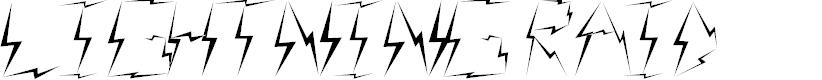 Preview image for Lightning raid Font