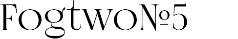 Preview image for FogtwoNo5 Font