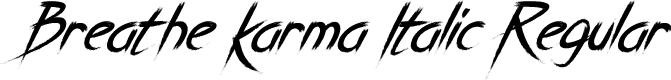 Preview image for Breathe Karma Italic Regular Font