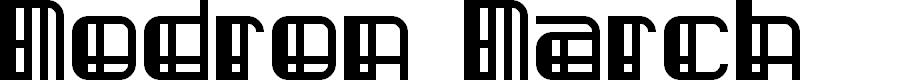 Preview image for Modron March Regular Font