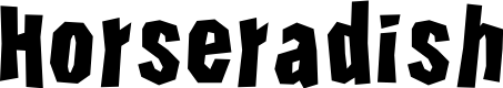Preview image for Horseradish Font