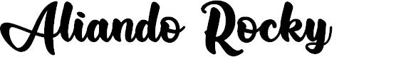 Preview image for Aliando Rocky Font