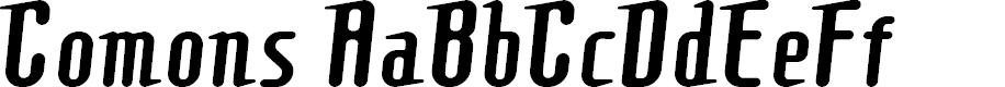 Preview image for Comonsregular Font