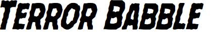 Terror Babble Condensed Italic