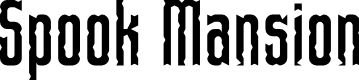 Preview image for Spook Mansion Regular Font