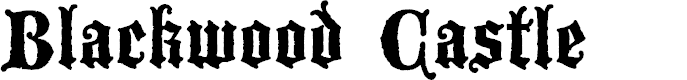 Preview image for Blackwood Castle Font