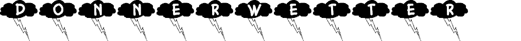 Preview image for Donnerwetter Font