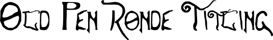 Preview image for Old Pen Ronde Titling
