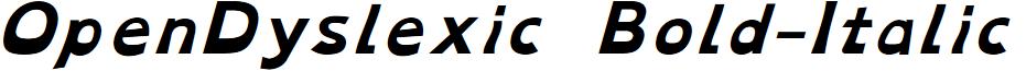 OpenDyslexic Bold-Italic