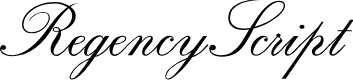 Preview image for RegencyScriptFLF Font