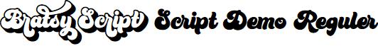 Bratsy Script Demo Reguler font