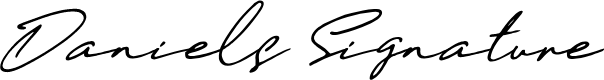 Preview image for Daniels Signature Font