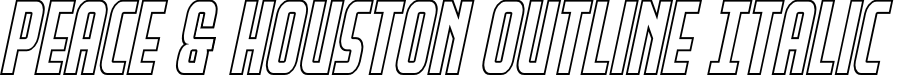 Preview image for Peace & Houston Outline Italic