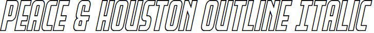 Peace & Houston Outline Italic