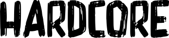 Preview image for Hardcore Font