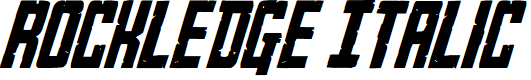 Preview image for Rockledge Italic