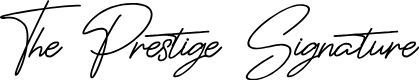 Preview image for ThePrestigeSignature Font