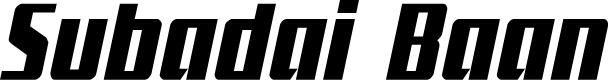 Preview image for Subadai Baan Condensed Italic