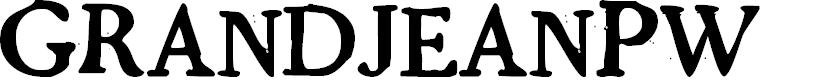 Preview image for GrandjeanPW Font