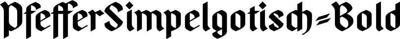 Preview image for PfefferSimpelgotisch-Bold