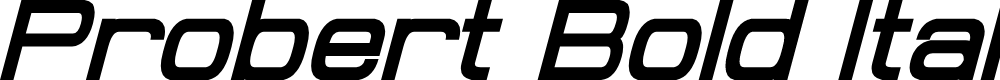 Preview image for Probert Bold Italic