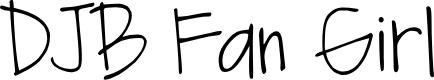 Preview image for DJB Fan Girl Font