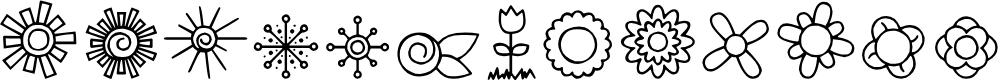 Preview image for DJB Doodled Bits Font