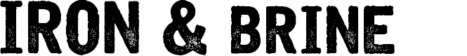 Preview image for Iron & Brine Font