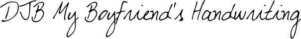 Preview image for DJB My Boyfriend's Handwriting Font