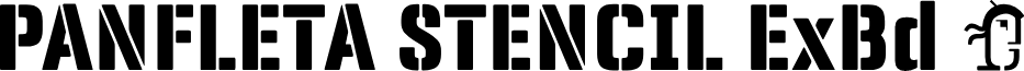 Panfleta Stencil Extra Bold font