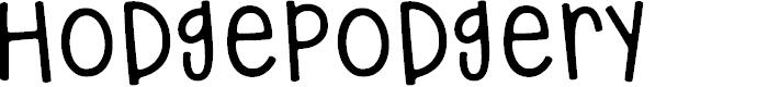 Preview image for hodgepodgery Font