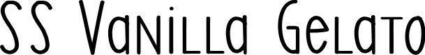 Preview image for SS Vanilla Gelato Font