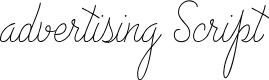 Preview image for Advertising Script Monoline