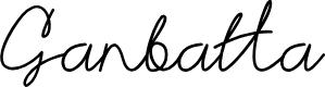 Preview image for Ganbatta Font
