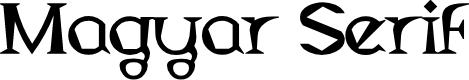 Preview image for Magyar Serif Font