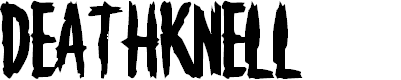 Preview image for Deathknell Font