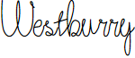 Westburry font