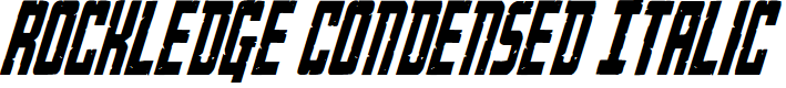 Preview image for Rockledge Condensed Italic