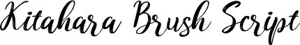 Kitahara Brush Script demo vers