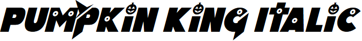 Preview image for Pumpkin King Italic Font